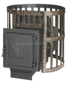 Чугунная печь для бани Везувий Легенда Ковка 22 ВКГ (211)