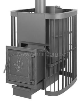 Дровяная печь для бани Везувий Ураган Люкс 28 ВКГ (211)