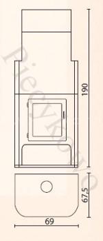 Печь-камин Eurokom Sonata