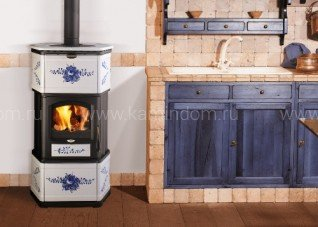 Печь-камин Lincar Monellina 175 NL Rose Blue
