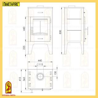 Печь-камин MetaFire Пехорка 6