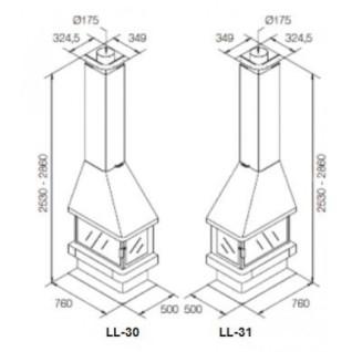 Камин Rocal LL-30 / LL - 31