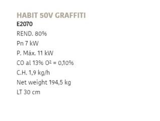 Отопительная печь Rocal Habit 50V Graffiti