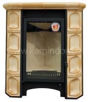 Печь-камин ЭкоКамин София угловая изразцовая Арка песочная