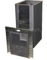 Дровяная печь Компакт Торнадо 18м2 МД дверь со стеклом