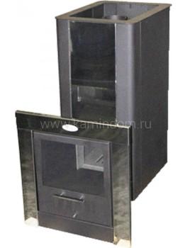 Дровяная печь Компакт Торнадо 18м2 ТО МД дверь со стеклом
