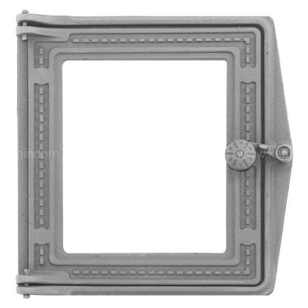 Топочная дверца Рубцово ДТ-4С (Р) со стеклом