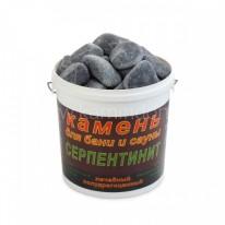 Камень серпентинит шлифованный (ведро 20 кг)