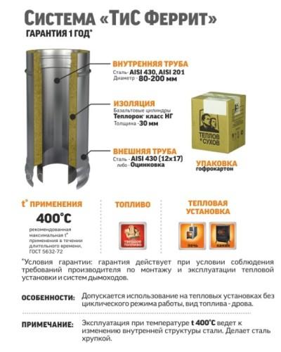 Отвод ТиС Термо 45° ОТ-Р, AISI 430 (бюджет)