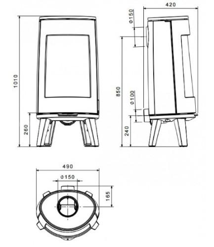 Печь-камин Dovre BOLD300