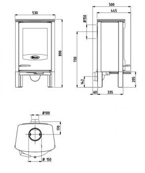 Печь-камин Dovre Astro2/L-GLB
