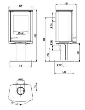 Печь-камин Dovre Astro2/P-GLT