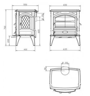 Печь-камин Dovre 640CB