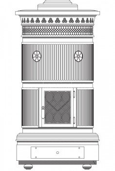 Печь-камин Sergio Leoni Maria Luigia