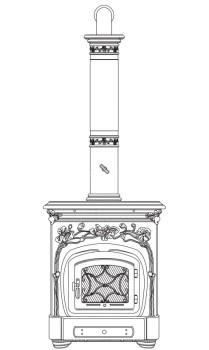 Печь-камин Sergio Leoni Liberty