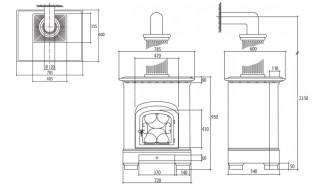 Печь-камин Sergio Leoni Giglio