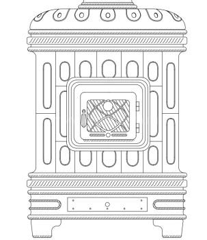 Печь-камин Sergio Leoni Castellana