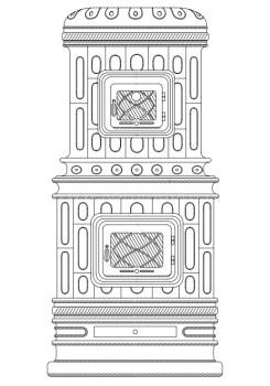 Печь-камин Sergio Leoni Viennese