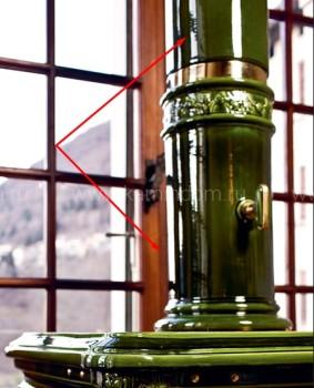 B02 - 121 см керамическая колонна- 2 части
