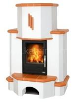 Кафельная печь-камин ABX Westfalia 752 (стальная вставка)
