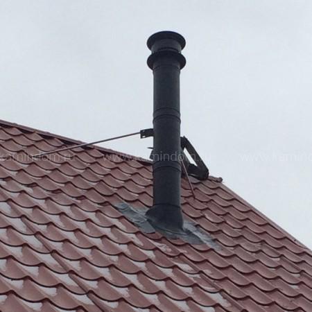 Насадной комплект дымохода Schiedel Permeter - высота 4 м, внутр. ⌀ 150 мм, цвет Черный