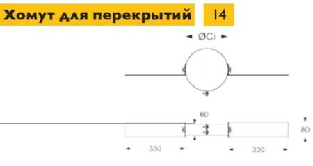 Настенный комплект дымохода Schiedel Permeter - высота 4 м, внутр. ⌀ 130 мм, цвет Черный