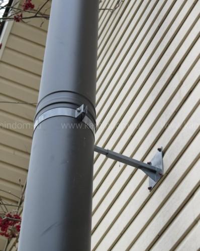 Настенный комплект дымохода Schiedel Permeter - высота 4 м, внутр. ⌀ 200 мм, цвет Черный