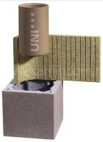 Одноходовой комплект керамического дымохода Schiedel UNI (⌀140 мм / 4 м) без вентиляционного канала