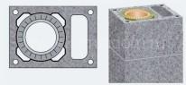 Одноходовой комплект керамического дымохода Schiedel UNI (⌀140 мм / 4 м) с вентиляционным каналом