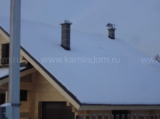 Одноходовой комплект керамического дымохода Schiedel UNI (⌀140 мм / 11 м) без вентиляционного канала