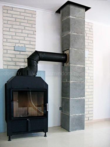 Одноходовой комплект керамического дымохода Schiedel UNI (⌀300 мм / 13 м) без вентиляционного канала