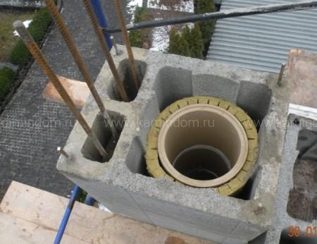 Одноходовой комплект керамического дымохода Schiedel UNI (⌀140 мм / 7 м) с вентиляционным каналом