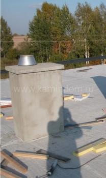 Одноходовой комплект керамического дымохода Schiedel UNI (⌀140 мм / 13 м) с вентиляционным каналом