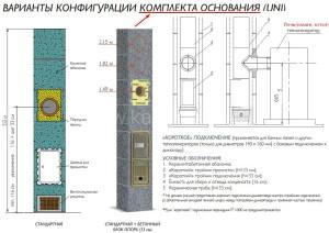 Двухходовой комплект керамического дымохода Schiedel UNI (⌀160 и 160 мм / 8 м) без вентиляционного канала