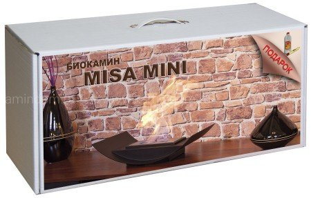 Набор с биокамином Kratki Misa Mini, биотопливом и зажигалкой
