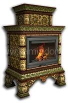Изразцовая печь КимрПечь Кострома двух-ярусная пристенная Июнь