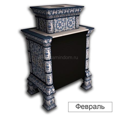 Каминная облицовка КимрПечь Кострома двухъярусная пристенная