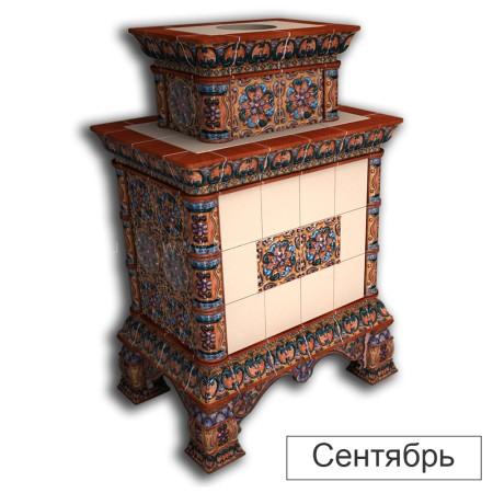 Каминная облицовка КимрПечь Кострома двухъярусная центральная
