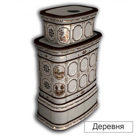 Каминная облицовка КимрПечь Сконе двухъярусная центральная