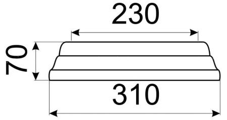 Однотонный малый конус КимрПечь 150 мм