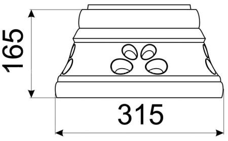 Однотонный стандартный конус КимрПечь 150 мм