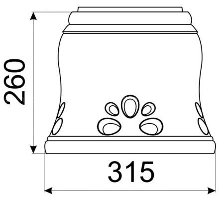 Однотонный большой конус КимрПечь 150 мм