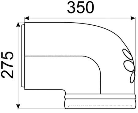 Однотонное колено КимрПечь 150 мм