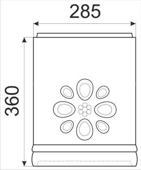 Расписная облицовка КимрПечь для трубы диаметром 200 мм (с отводом)