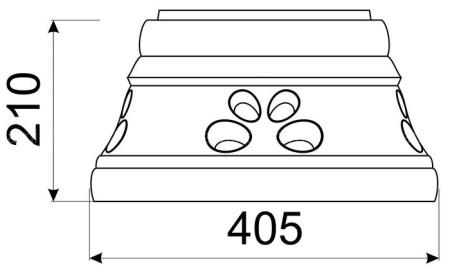 Расписной стандартный конус КимрПечь 200 мм