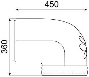 Однотонная облицовка КимрПечь для колена диаметром 200 мм