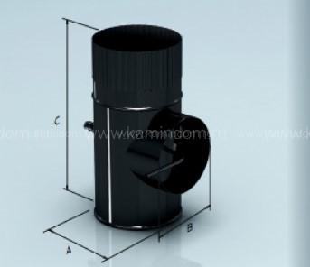 Шибер Lokki эмалированный, d=200 мм