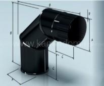 Отвод Lokki эмалированный для дымохода 90°, d=115 мм