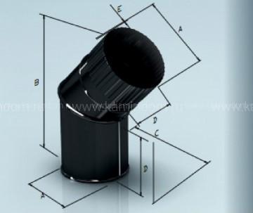 Отвод Lokki эмалированный для дымохода 135°, d=120 мм
