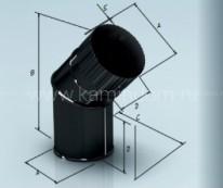 Отвод Lokki эмалированный для дымохода 135°, d=115 мм